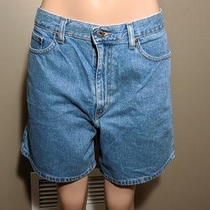 LL Bean Jean Mom Jeans Shorts Size 14